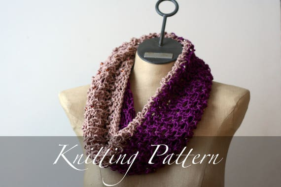 Knitting Pattern Spring Bling Cowl Scarf Pattern Cowl Etsy
