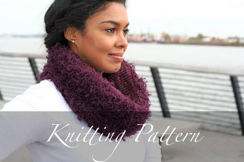 Knitting Pattern Reversible Fur Cowl Fur Scarf Pattern Etsy