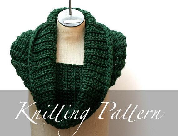 Knitting Pattern Forest Canopy Cowl Super Bulky Oversized Etsy
