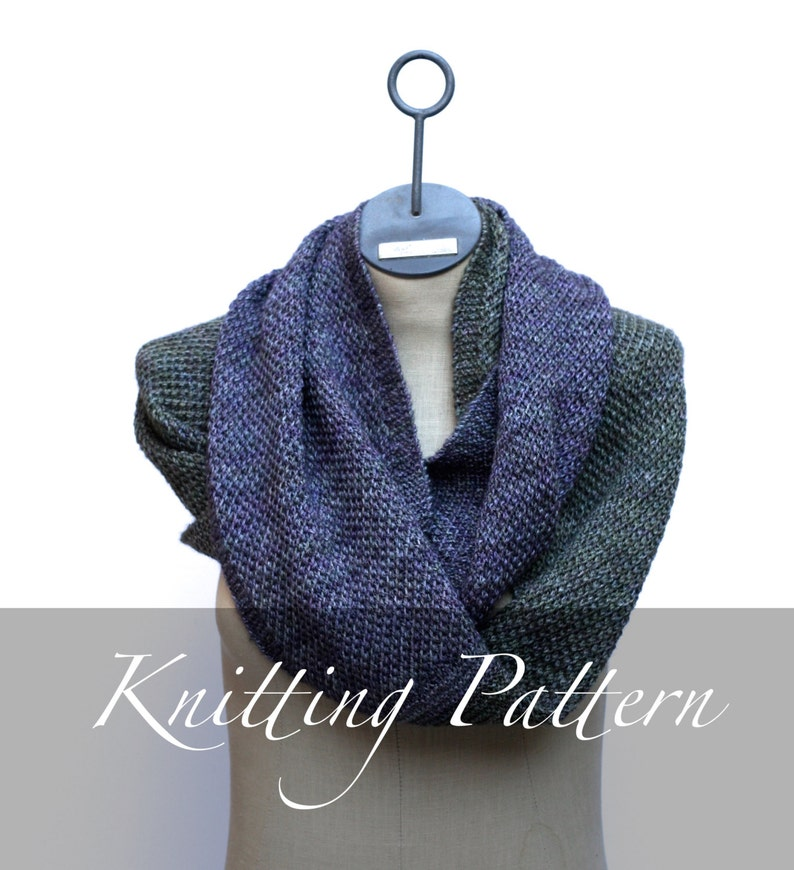 Knitting Pattern The Ombre Cowl Scarf Pattern Infinity Etsy
