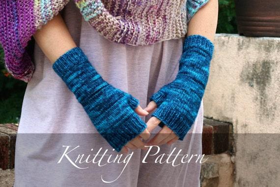 Knitting Pattern Countryside Mitts Hand Knit Merino Wool Etsy