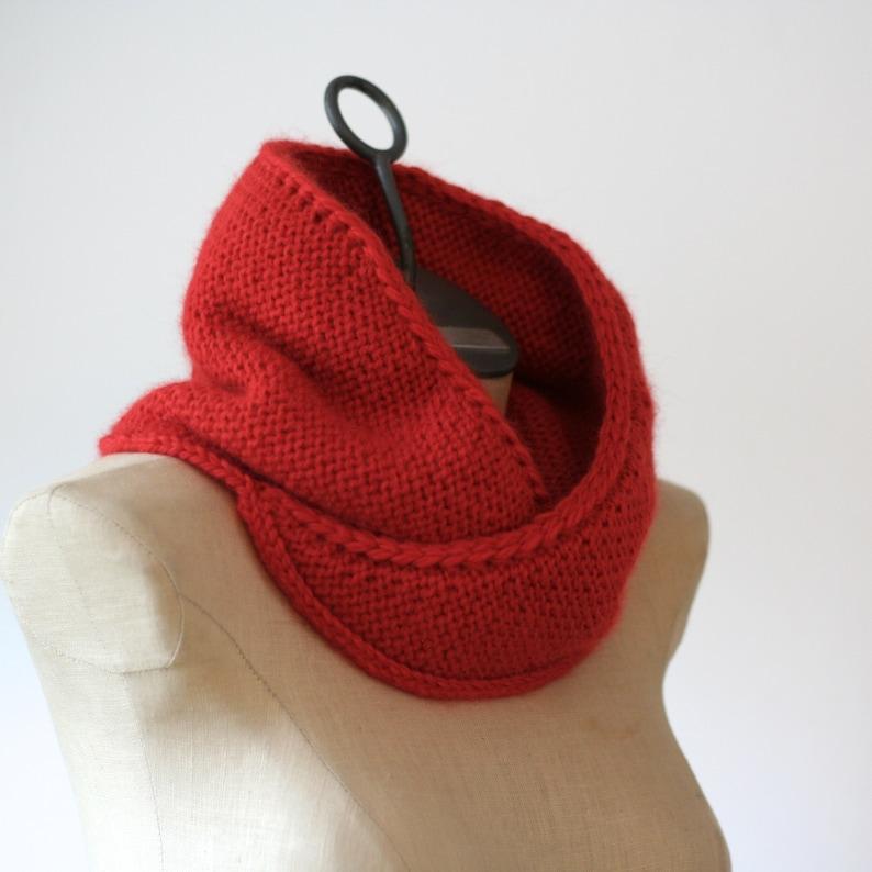 Knitting Pattern Rosebud Cowl Bulky Cowl Pattern Knit | Etsy