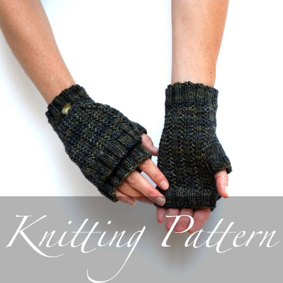 Knitting Pattern Cliffs Of Moher Mitts Fingerless Gloves Etsy