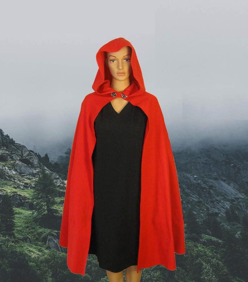 Fleece Red Riding Hood Cape Cloak Little Red Riding Hood  d78c25d14