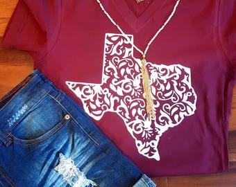 Swirl Texas tee