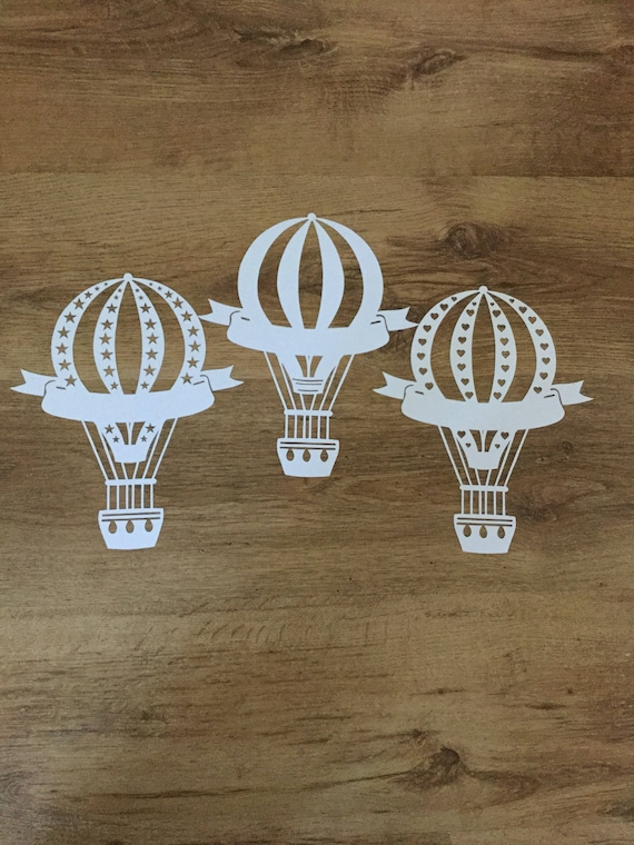Personilised Hot Air Balloon Paper Cuts Balloon Stars Etsy