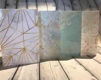 Travelers Notebook Dashboard Teal Marble