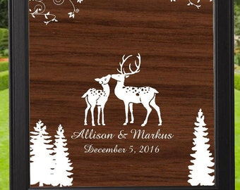 Enchanted Woodland Alternate Wedding Guest Book - Item #GBWD101 -  lovebirdslane-Weddings