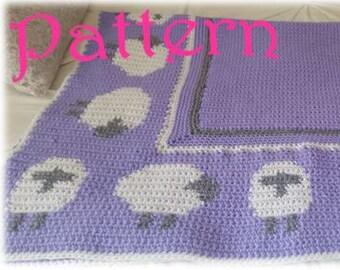 Little Lamb Crochet Baby Blanket Pattern