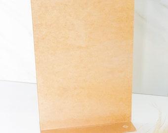"Pack of 2 | Rectangular Menu 8""x11""| (1/8"") Clear Acrylic Disc | DIY Menus | Clear Plexiglass | Modern Shapes | Pack of 2"
