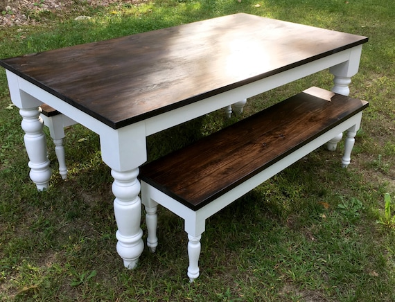 Rustic Country Style Dining Room Table, Farmhouse Table, Dining Table,  Reclaimed Table, Turned Leg Table