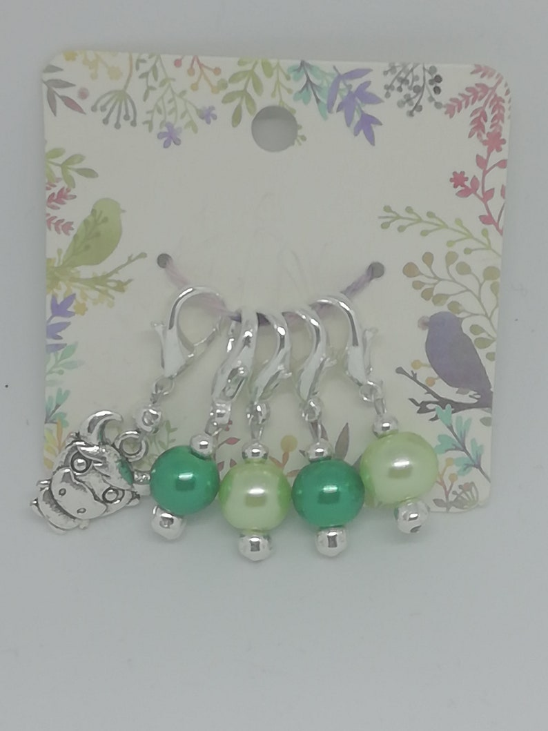 Crochet Knitting Personalised Stitch Markers Craft Bag Charm /& 5 Stitch Markers
