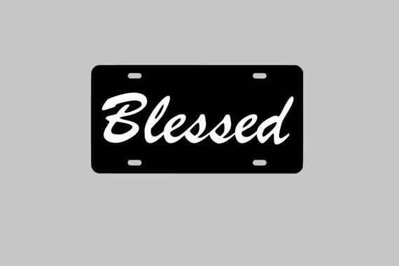 Jesus is My Lord License Plate Jesus Religious Chrome and Regular Vinyl Choices