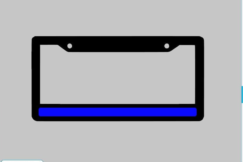 Thin blue Line License Plate Frame United We Stand support | Etsy