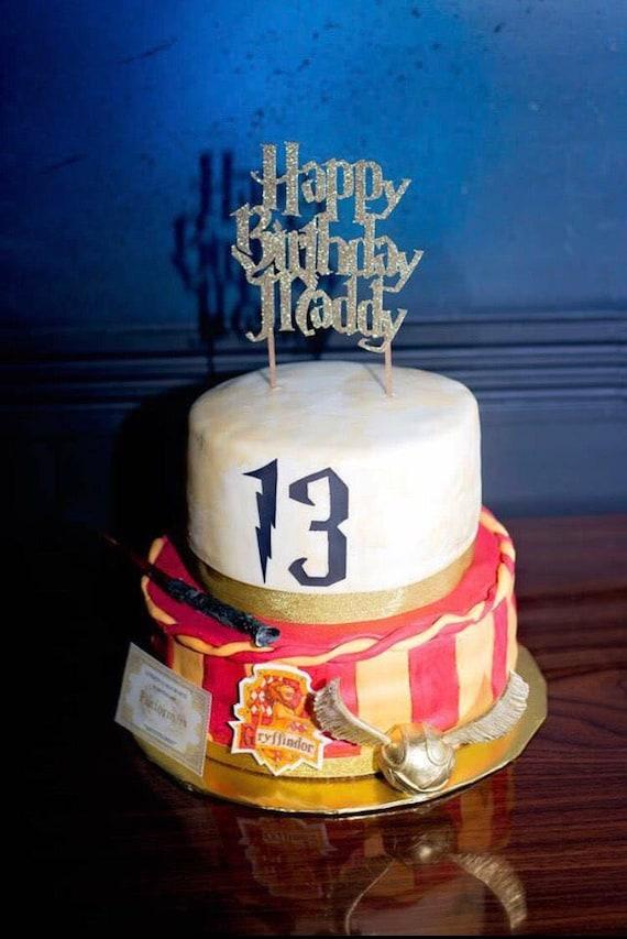 Custom Harry Potter Birthday Cake Topper
