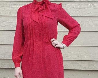 Vintage Tie Neck Dress