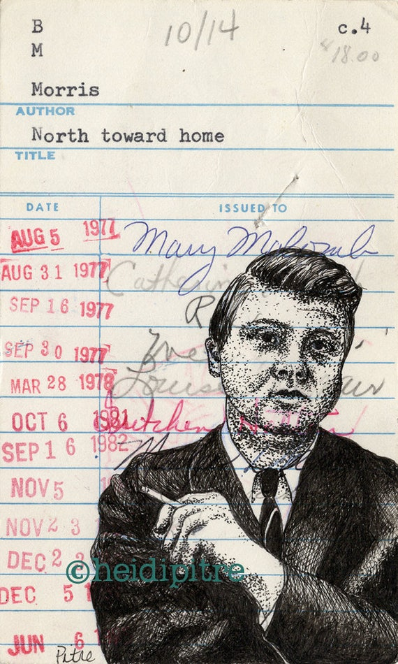Willie Morris North Toward Home Upcycled Library Card Etsy
