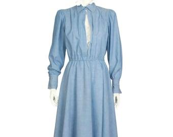 Lew Magram black dress with white stitching Sz16