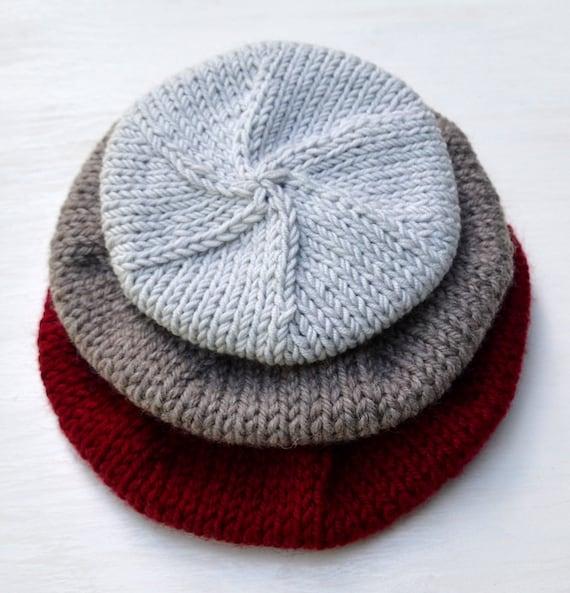 Beret Knitting Pattern. Modern Beret Knitting Design  50c41356192