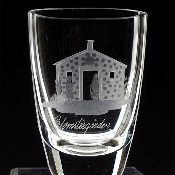 12 Swedish Cities Souvenir Glass Vases, Copper Wheel Engraved 1960's, Nostalgia, Tourist Mementos