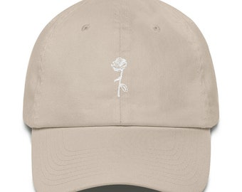 1b1f5bf1 Single Line Rose Dad Hat