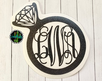 Mrs Decal | Engaged Decal | Wedding Ring Decal | Cup Decal | Monogram Decal | Car Decal | Cup Decal | Vinyl Decal | Laptop Decal