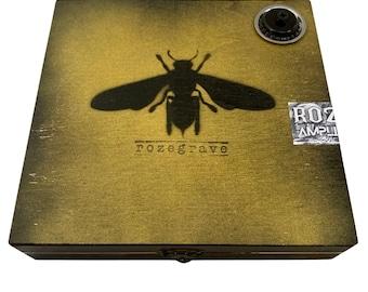 Rozegrave Pro Graffiti Box Cajon Drum Amplifiable Hand Drum Limited Edition with 1/4  inch Jack Travel Cajon Box Drum Pro Sound