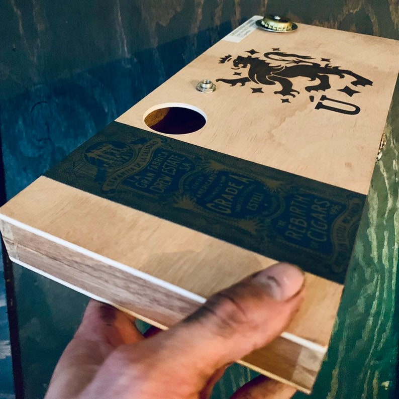 Blemished     Acoustic-Electric Cajon Cigar Box Drum Handmade image 0