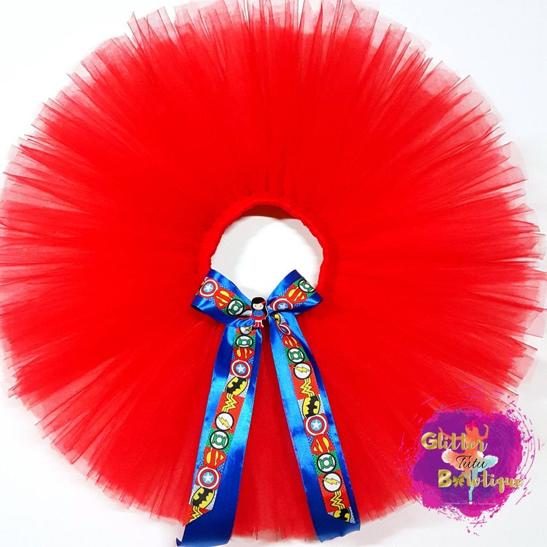 6Years Old Superhero Birthday Outfit Birthday Costume Birthday Dress DCComics Supergirl Red Tutu Skirt with Superman Top Set for 1Year