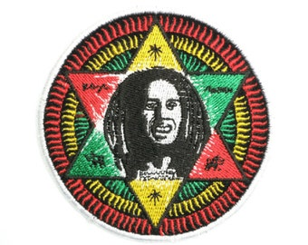 RASTA SERGEANT STYLE STRIPES PATCH Embroidered Cloth Badge King Haile Selassie