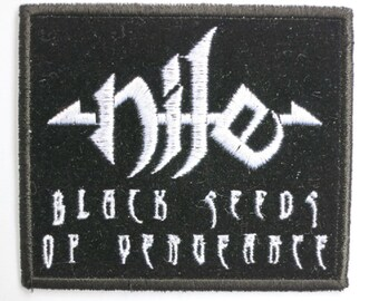Vintage NILE Black Seeds Of Vengeance Sew On Embroidered Death Metal Patch