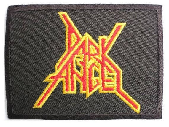 PUNK ROCK HEAVY METAL MUSIC SEW ON THRASH METAL a DARK ANGEL IRON ON PATCH: