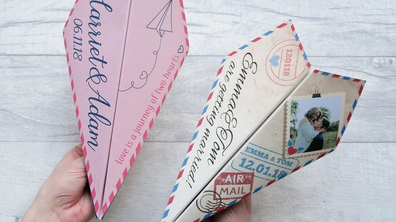 DIGITAL  Paper Plane Invitations  Perfect for destination image 0