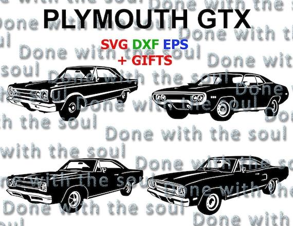 Plymouth Plymouth Gtx Muscle Car Gtx Car Vector Car Etsy