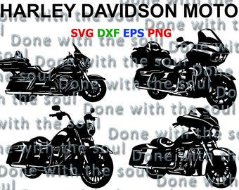 Harley Davidson Moto - Harley Davidson svg - Motorcycle cut - Road king - Road glide - Electra Glide - Motorcycle digital - Motorcycle svg
