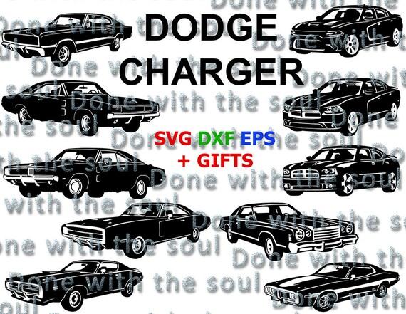 Dodge Charger Car Vector Dodge Digital Car Svg Daytona Etsy