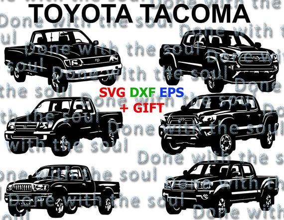 Toyota Tacoma Toyota pickup Toyota Car vector Japanese