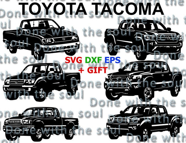 Toyota Tacoma Toyota pickup Toyota Car vector Japanese   Etsy