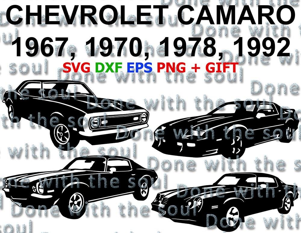 Chevrolet Camaro Chevrolet Vector Camaro Vector Car Svg Etsy