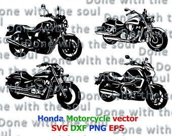 Honda Motorcycle - Motorcycle vector - Honda CB - Honda Shadow - Motorcycle cut - Motorcycle silhouette - Motorcycle digital - Cutting files
