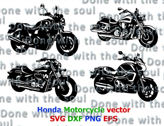 Honda Motorcycle Motorcycle Vector Honda Cb Honda Shadow Motorcycle Cut Motorcycle Silhouette Motorcycle Digital Cutting Files