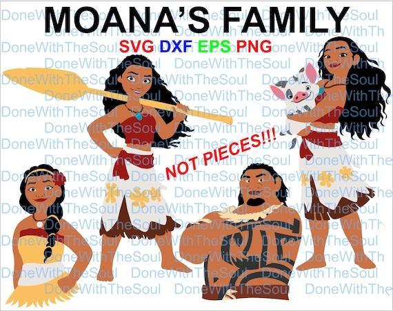 Moana Family Moana Svg Moana Cut File Moana Vector Etsy