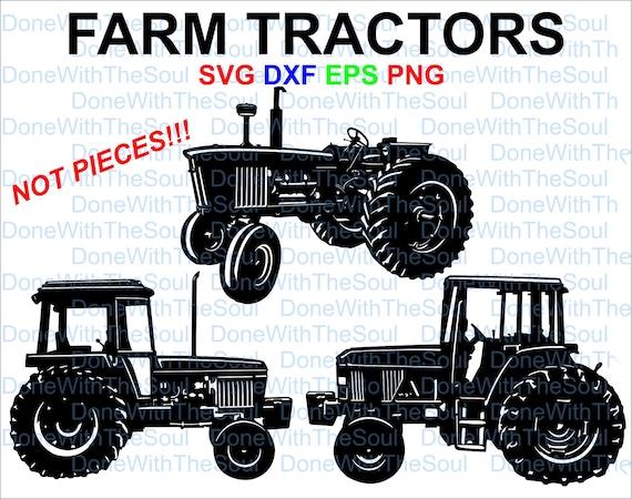 Tractor Svg Laser Cut File Farm Tractor Svg Car Vector Etsy