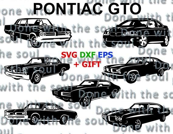 Pontiac Gto Pontiac Digital Muscle Car Pontiac Cut Car Etsy