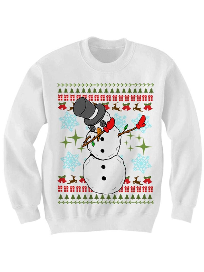 Kersttrui Dab.Grappige Kerst Trui Deppen Snowman Lelijk Dab Trui Dames Heren Etsy