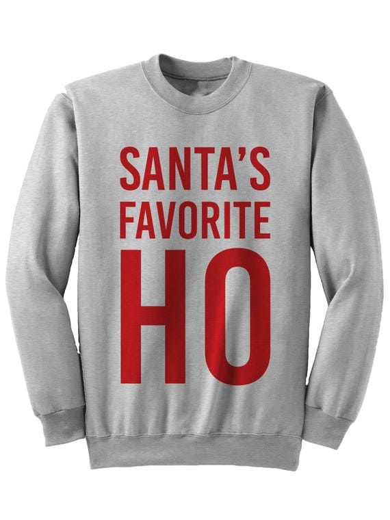 image 0 - Funny Christmas Sweater Santa's Favorite Ho Ugly Sweaters Etsy