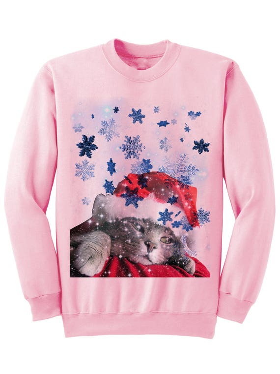 Christmas Cat Sweater.Christmas Sweater Christmas Cat Sweater Ladies Mens Sweatshirts Christmas Party Outfit Funny Gifts Cats Cat Shirt Gift Ideas Catlover