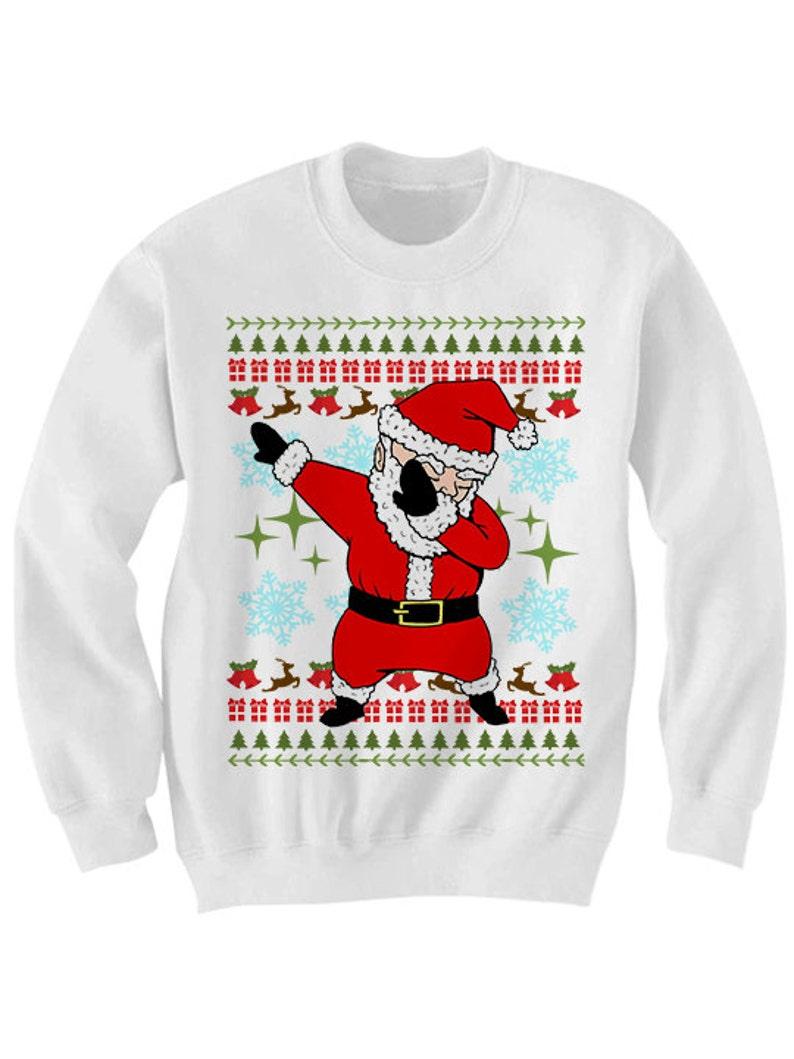 6a0be3e5 Santa Dabbin Christmas Sweater Dab Sweater Dabbing Santa | Etsy
