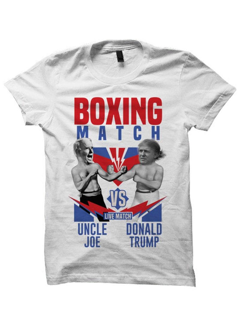 332e65ecc Joe Biden vs Donald Trump T-shirt Boxing Shirts White House | Etsy