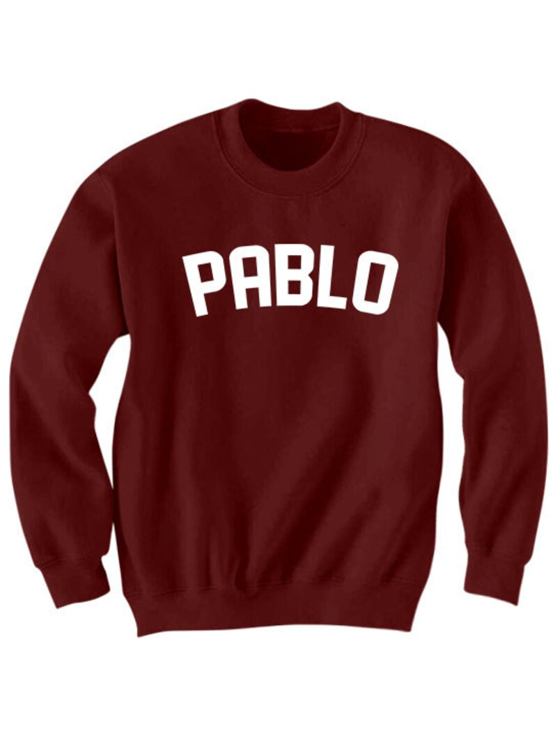 47d9b0a7214 Pablo Sweatshirt Pablo Sweater Ladies Top Mens Tees Unisex | Etsy